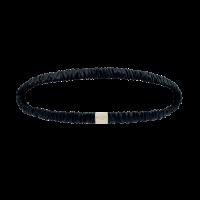Silk Headband Midnight Black
