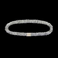 Silk Headband Silver Grey